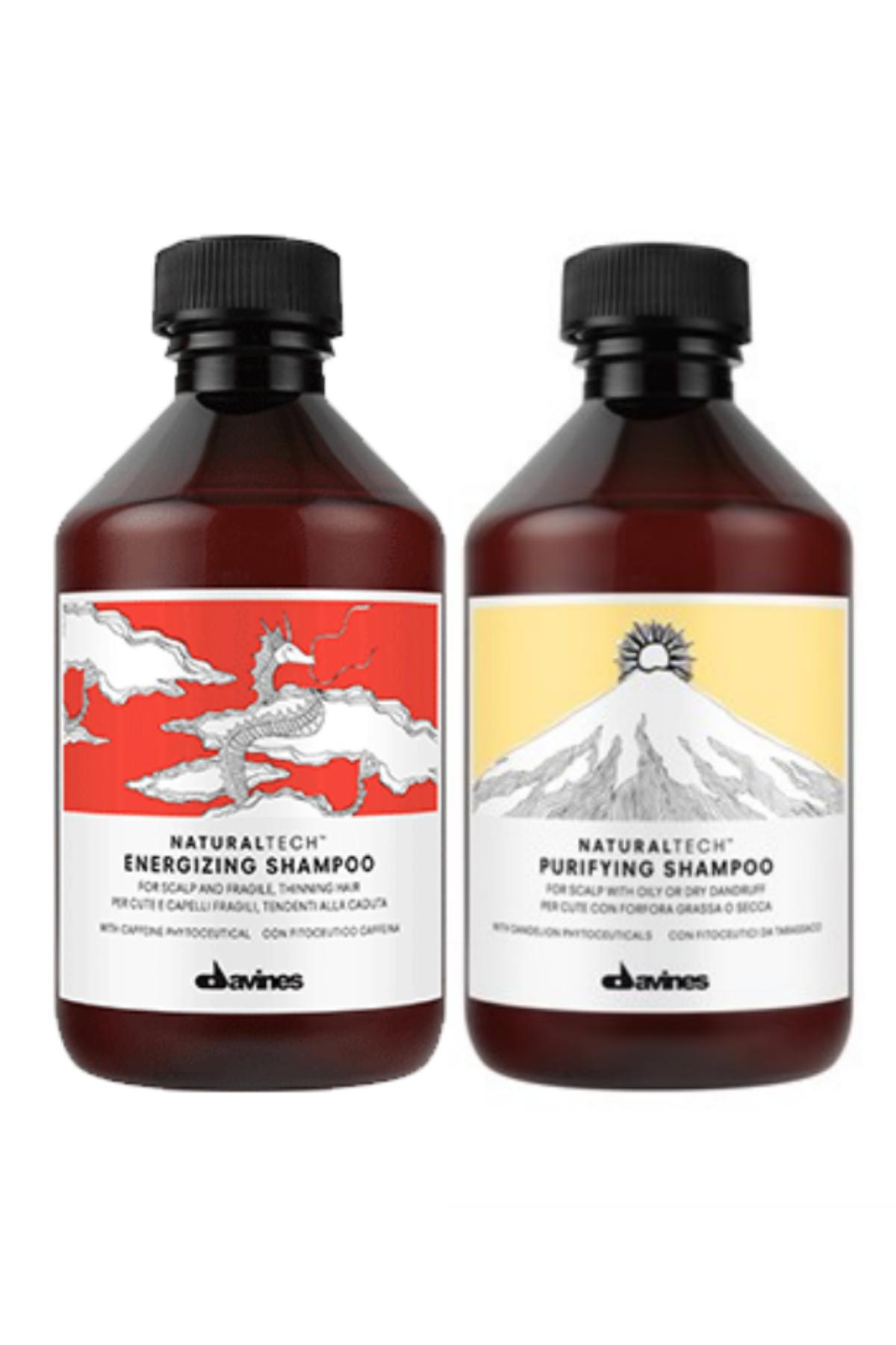 Davines Energizing Şampuan 250 ml + Davines Purifying Şampuan 250 ml