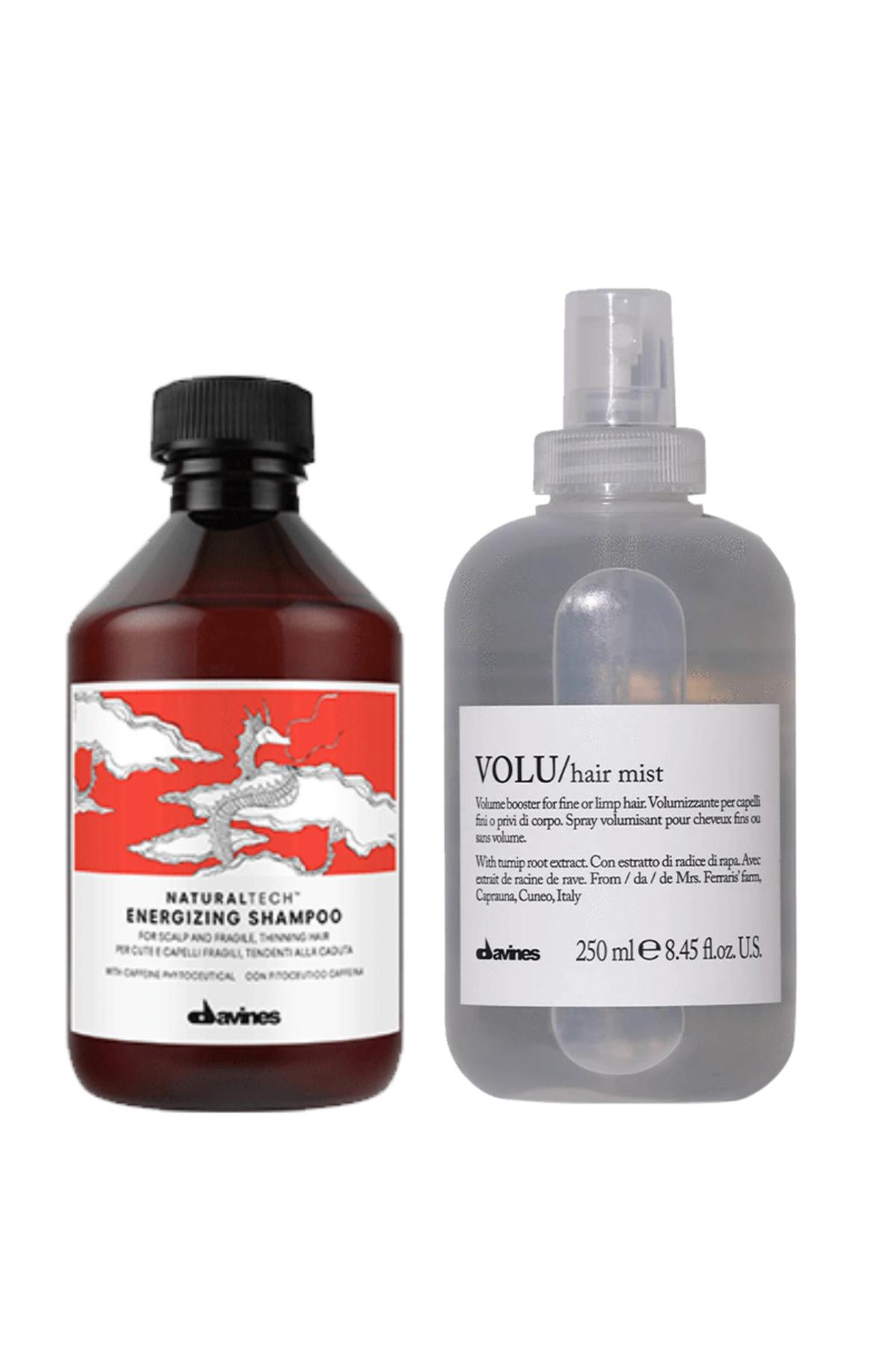 Davines Energizing Şampuan 250 ml + Davines Volu Hair Misk 250 ml