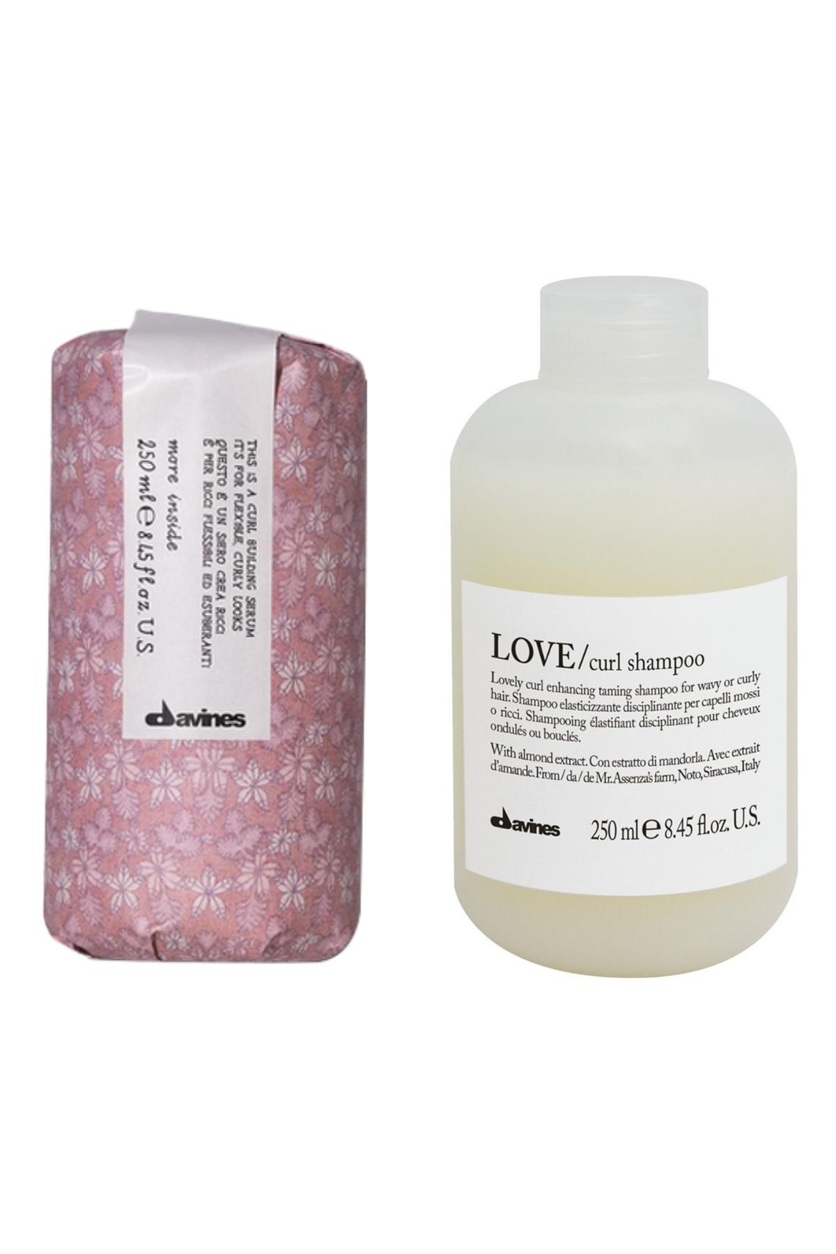 Davines Love Curl Şampuan 250 ml + Davines Curl Building Serum 250 ml