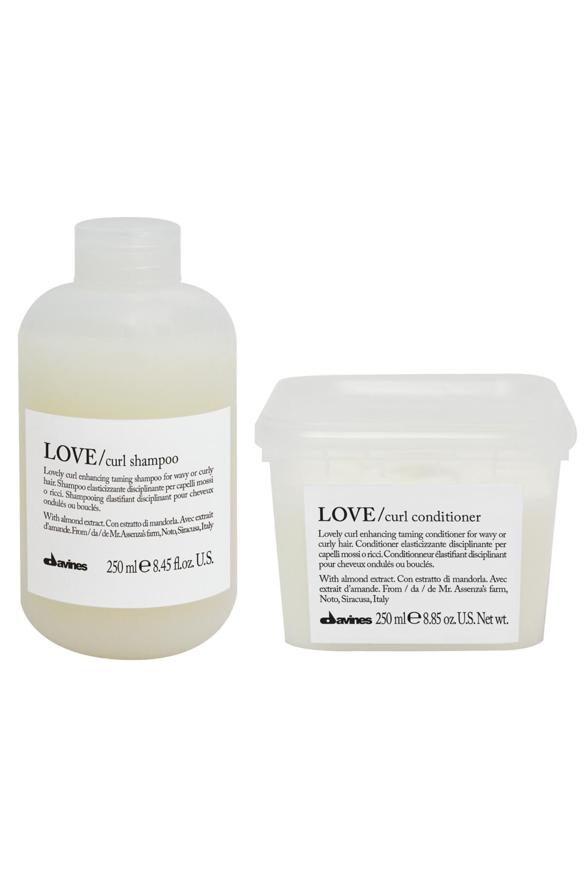 Davines Love Curl Şampuan ve Saç Kremi  (Dalgalı ve Kıvırcık Saçlar İçin Şampuan ile Saç Kremi)