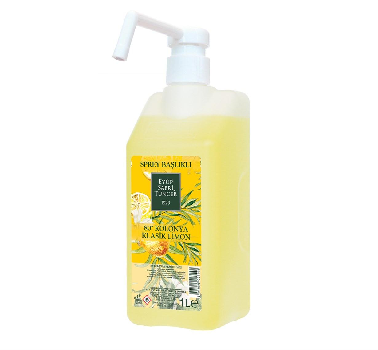 Eyüp Sabri Tuncer Klasik Limon Kolonyası 1 lt - Sprey Başlıklı