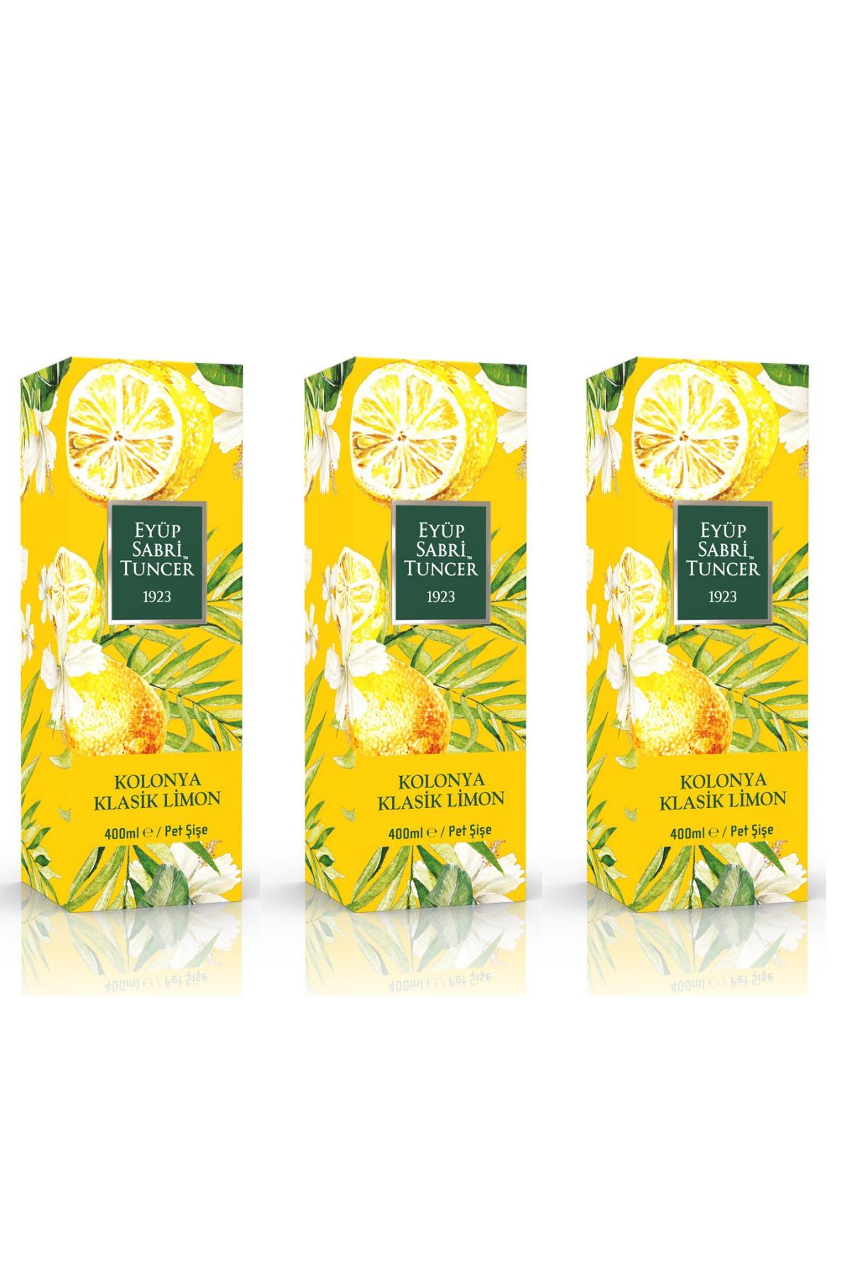 Eyüp Sabri Tuncer Klasik Limon Kolonyası 400 ml - Pet Şişe x 3 Adet