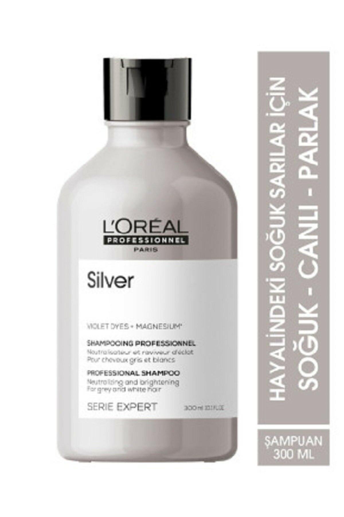 L'oreal Professionnel Serie Expert Silver Çok Açık Sarı, Gri Ve Beyaz Saçlar Için Renk Dengeleyici Mor Şampuanı 300 ml