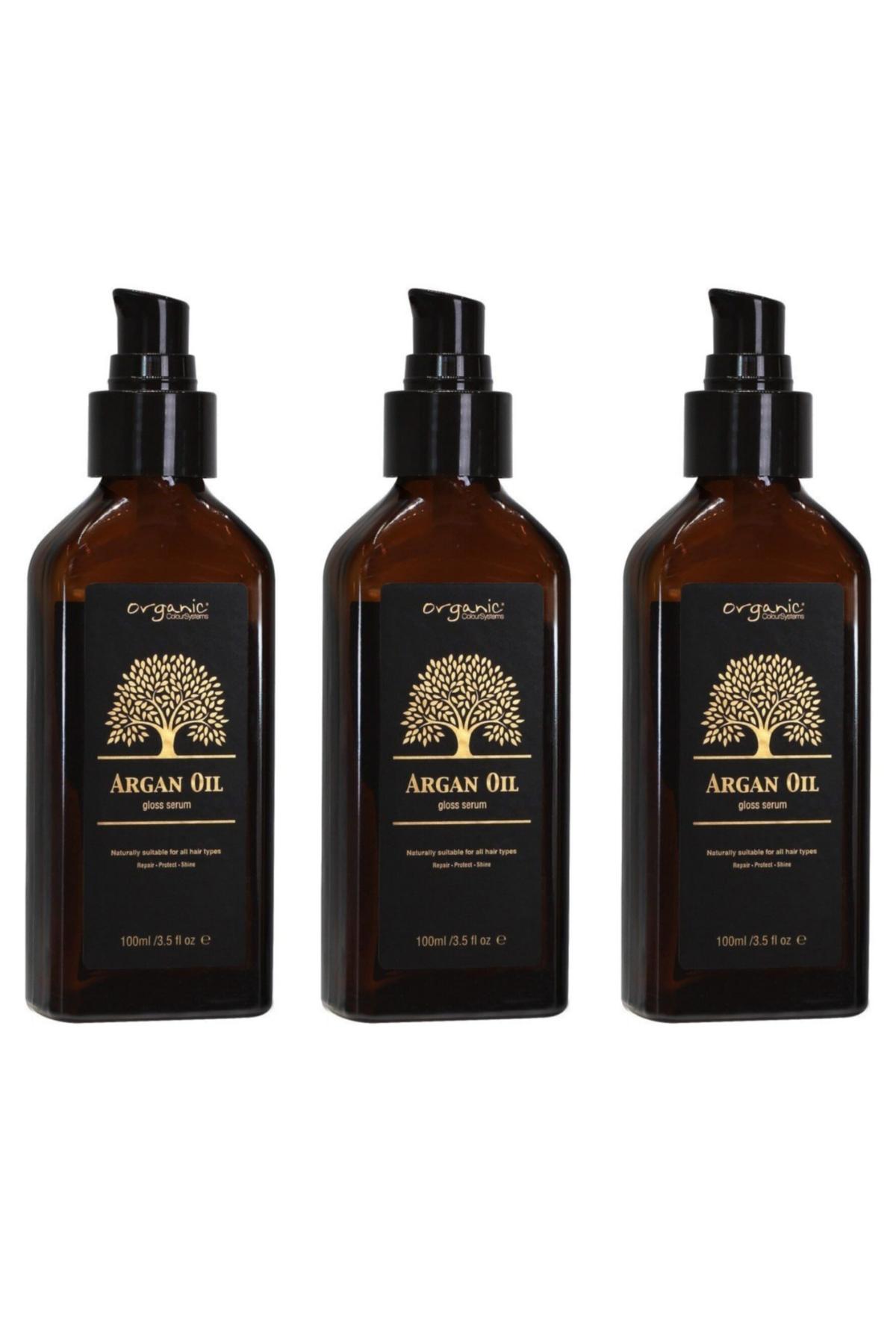 Organic Colour Systems Argan Yağlı Saç Bakım Serumu 100 ml x 3 Adet